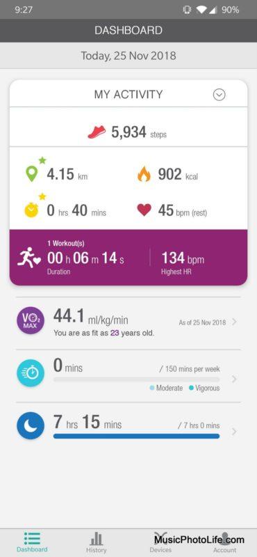 Actxa Spur+ fitness tracker review by musicphotolife.com, Singapore tech gadget blogger