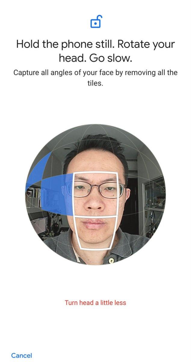 Google Pixel 4XL Face Unlock