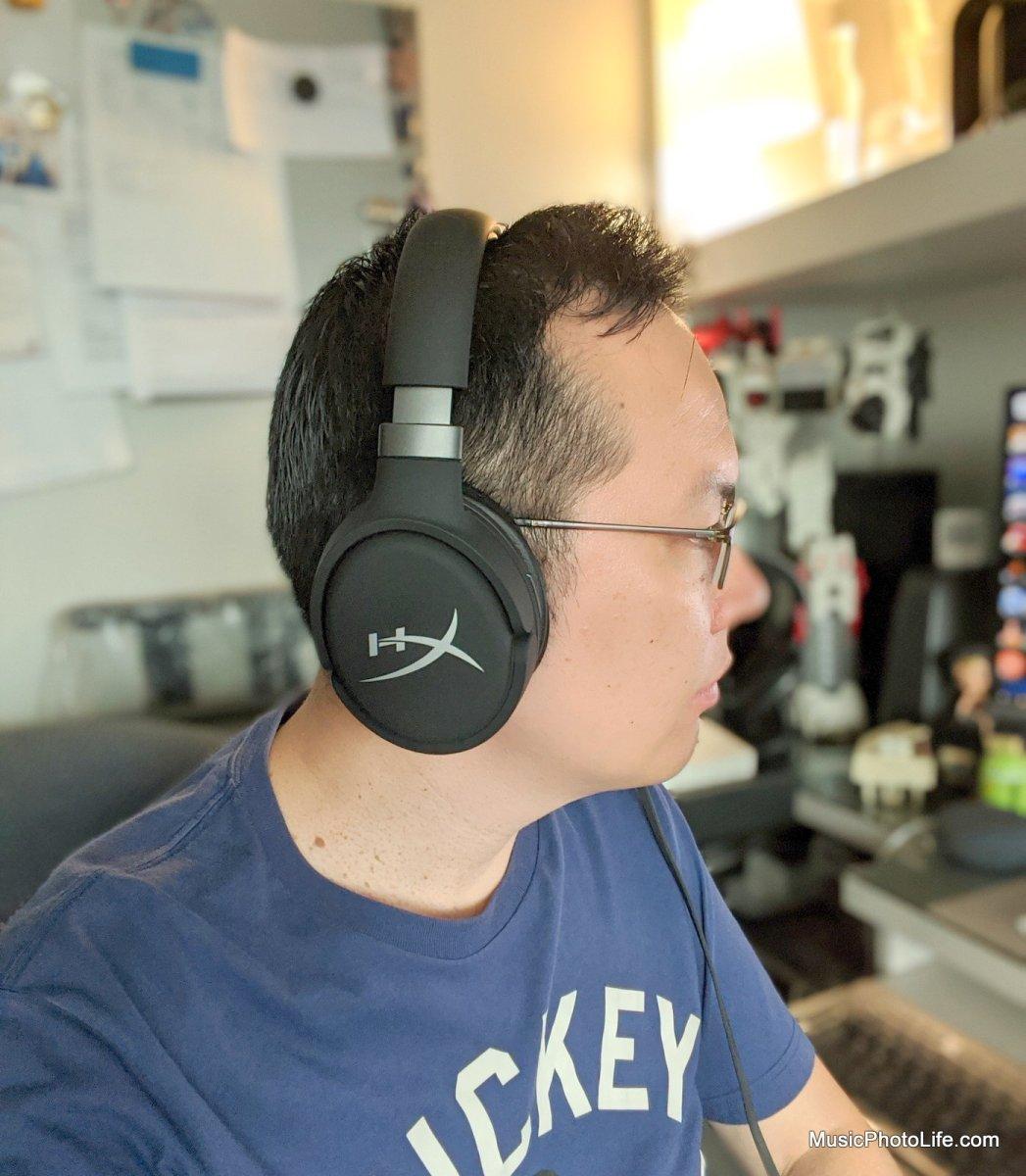 Chester wearing the HyperX Cloud Orbit S 3D surround gaming headphones