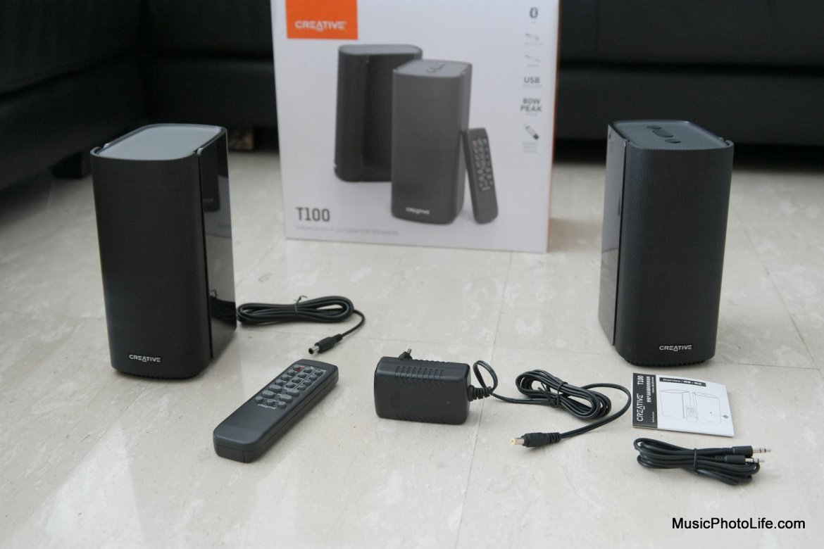 Creative T100 2.0 Speakers unboxing