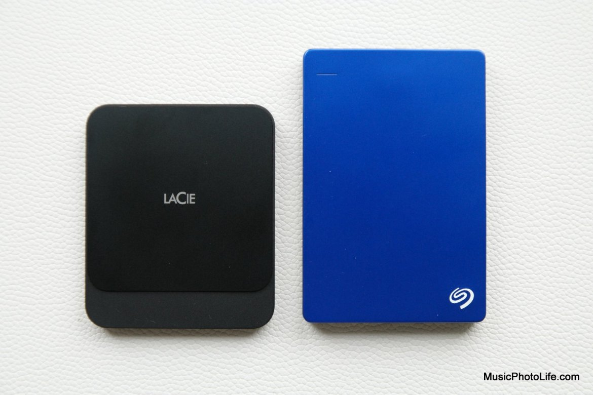 LaCie Portable SSD compares to Seagate Backup Plus HDD