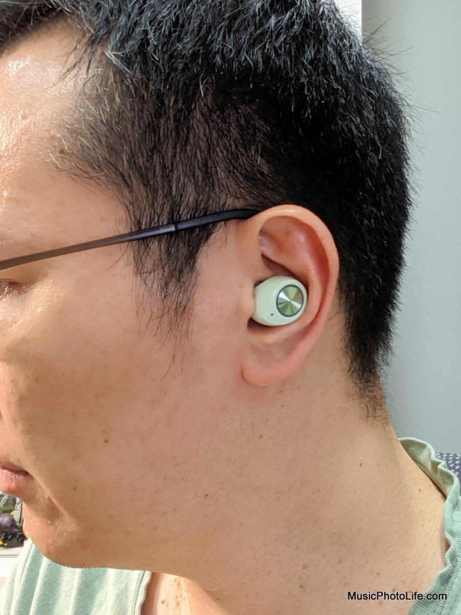 Alpha & Delta Dream True Wireless Earphones on ear
