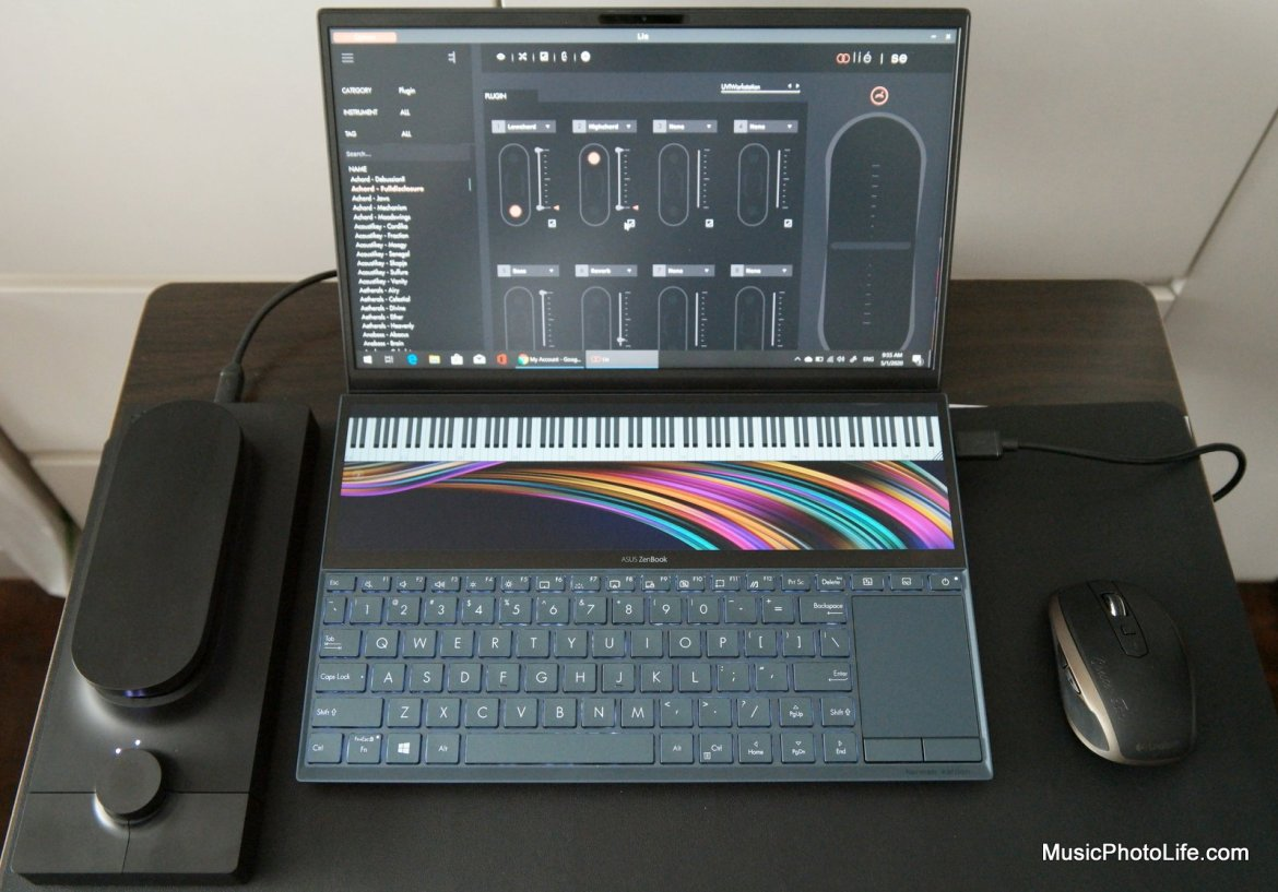 ASUS Zenbook Duo UX481 with Expressive E MIDI controller