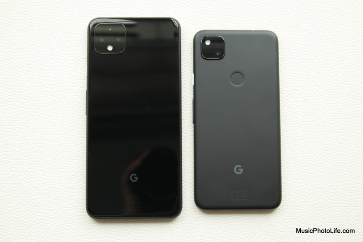 Google Pixel 4a compared with Pixel 4