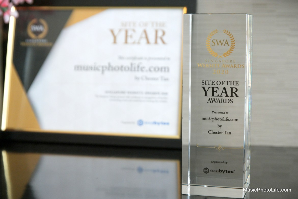 Music Photo Life is Site of the Year 2020 by Singapore Website Awards