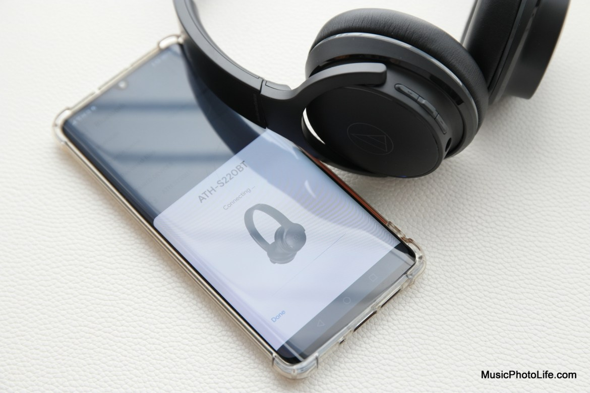 Audio-Technica ATH-S220BT wireless headphones review by Music Photo Life, Singapore tech blog