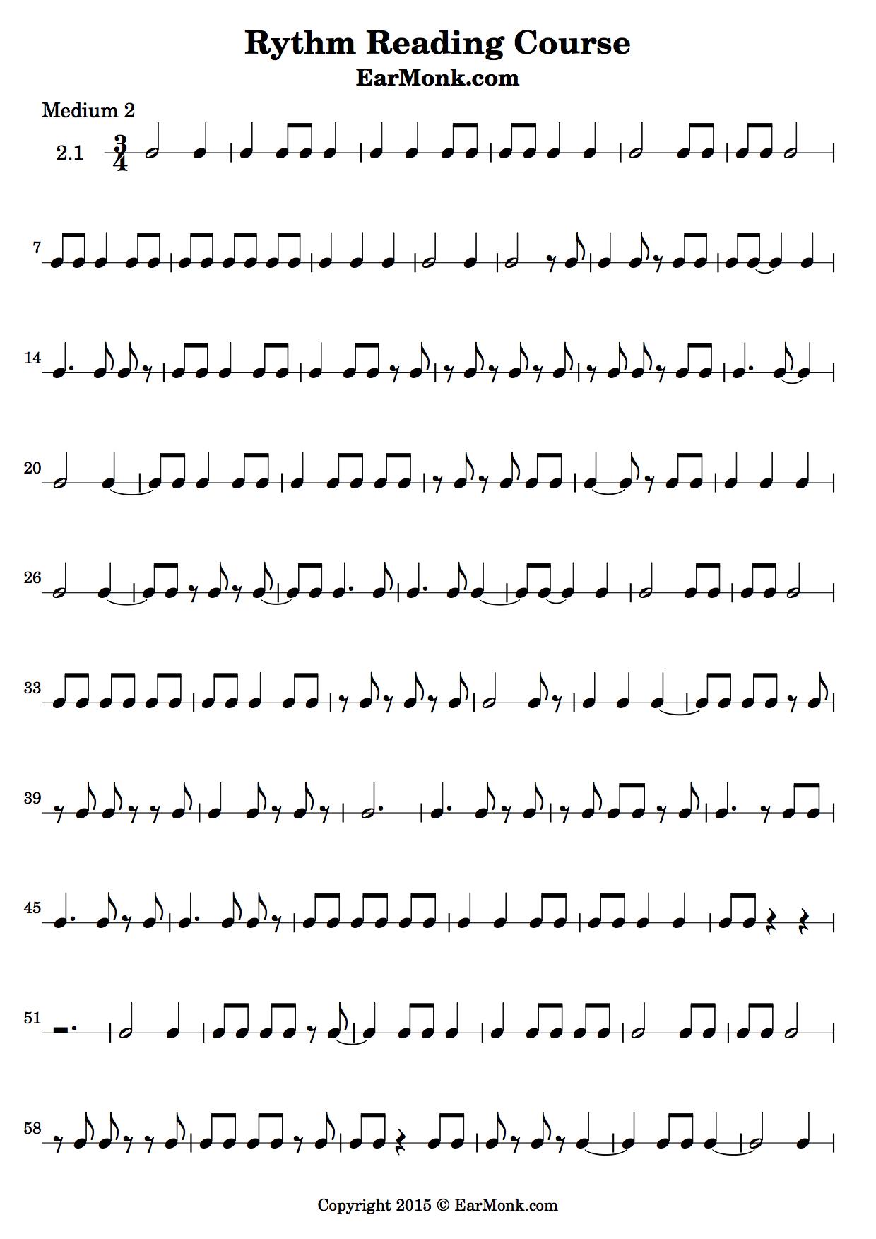Rhythm Exercise Medium 2