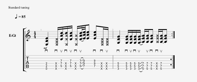 power chord riff