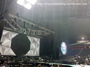 Stage for 2014 CNBLUE LIVE – Can't Stop in SINGAPORE.