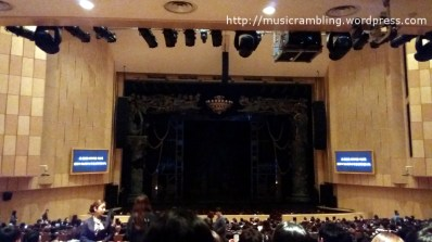 The stage set-up of Musical PHANTOM before the start of the performance at the Kemyung Art Center.