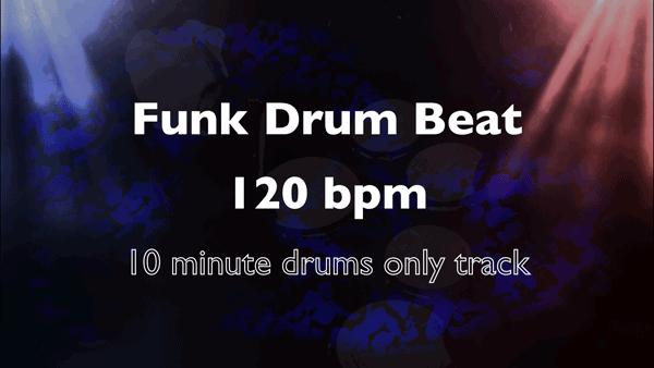 Funk Drum Beat 120 bpm with Funk Drum Loops