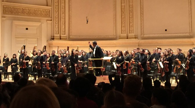 Juilliard Orchestra performance at Carnegie Hall with New York Philharmonic music director Alan Gilbert. Fedor Ouspensky
