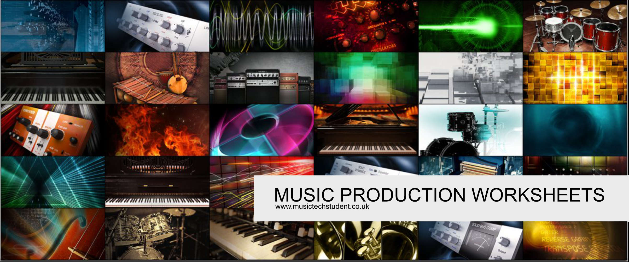 Music Production Worksheets