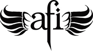 AFI logo - black on white - winged