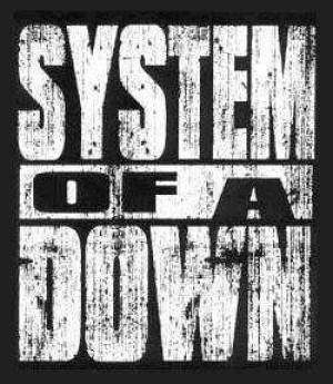 System of a Down Logo - block - white on black
