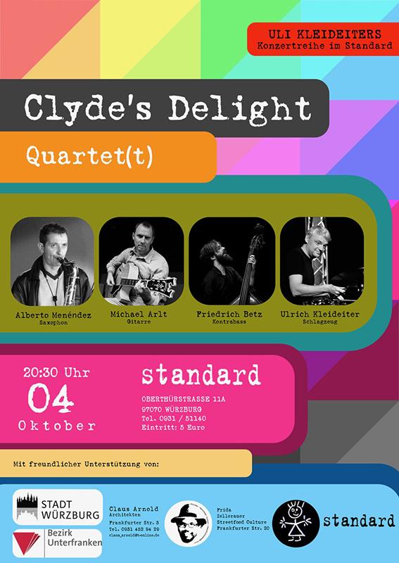 Clyde's Plakat Clyde´s Delight Quartet(t).jpg