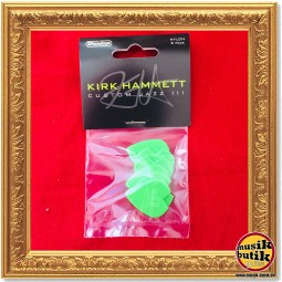 Dunlop Kirk Hammett Signature Jazz III Picks, Player's Pack, 6 pcs., green, 1.38 mm