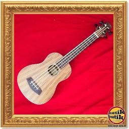 DIMAVERY UK-700 Bass-Ukulele. Zebrano 1