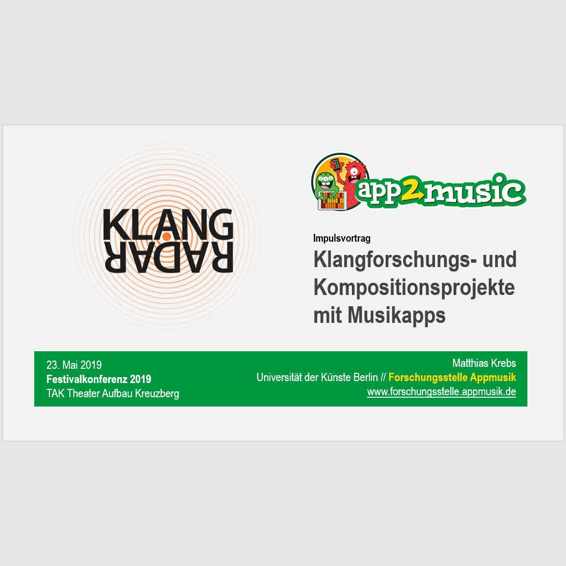 Klangforschungs- und Kompositionsprojekte mit Musikapps