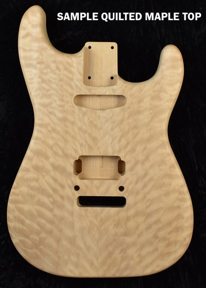 Quilted Maple Stratocaster Guitar Body by Musikraft