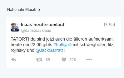 Nationale Musik jetzt auch bei Twitter.