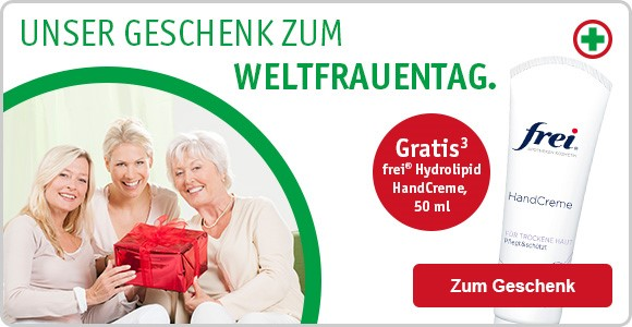 Apotheken-Geschenk. Geschenkt. Quelle: Werbemail