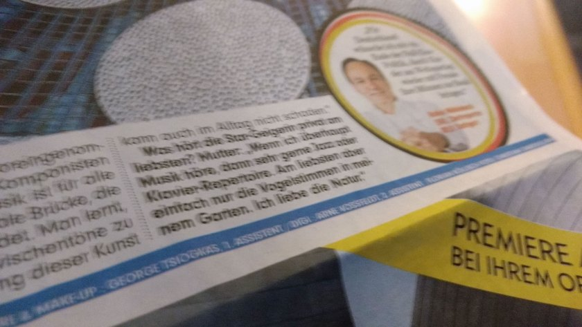 Anne Sophie Mutter in der Sonder-Bild!