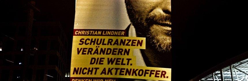 Wahlwerbung der FDP. Foto: Hufner