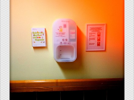 Hygienespender. Foto: Hufner