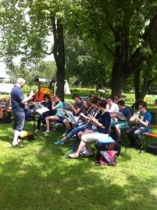 Jugendkapelle im Freibad (06/2013)