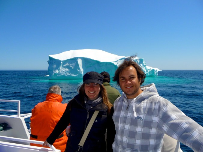 Up close with the Icebergs - I lost count of how many I saw, this was one of the medium sized ones.