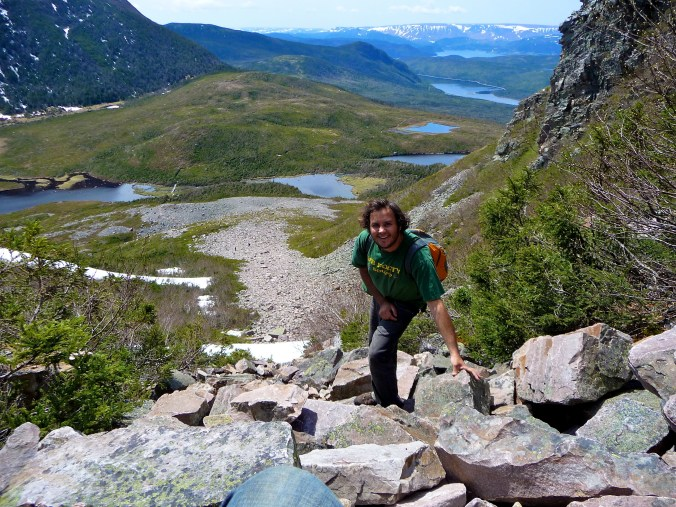 Trekking Up Gros Morne Mountain - Really just the start. We finished 8 hours later.