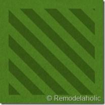 Diagonal lawn mowing pattern