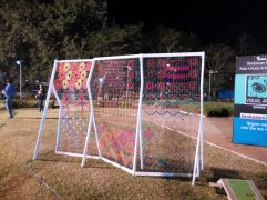 Football net or a piece of Art? Or both?