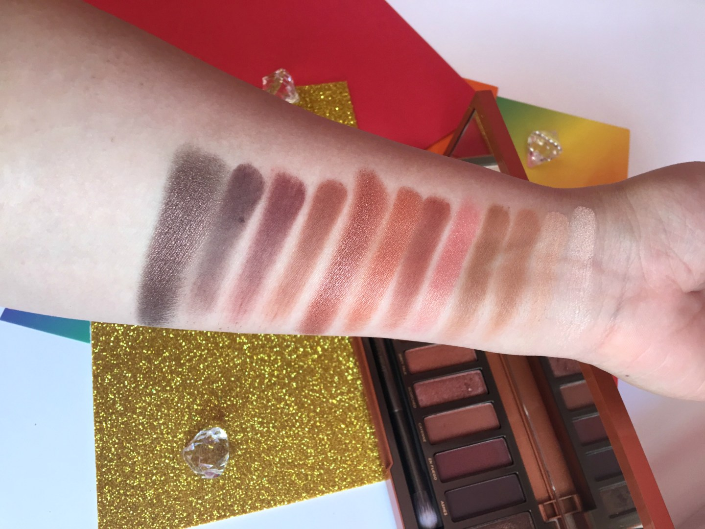 UD Naked Heat Swatches (2)