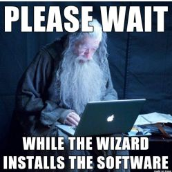 gandalf using the computer