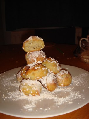 Puffy and delicate chouquettes