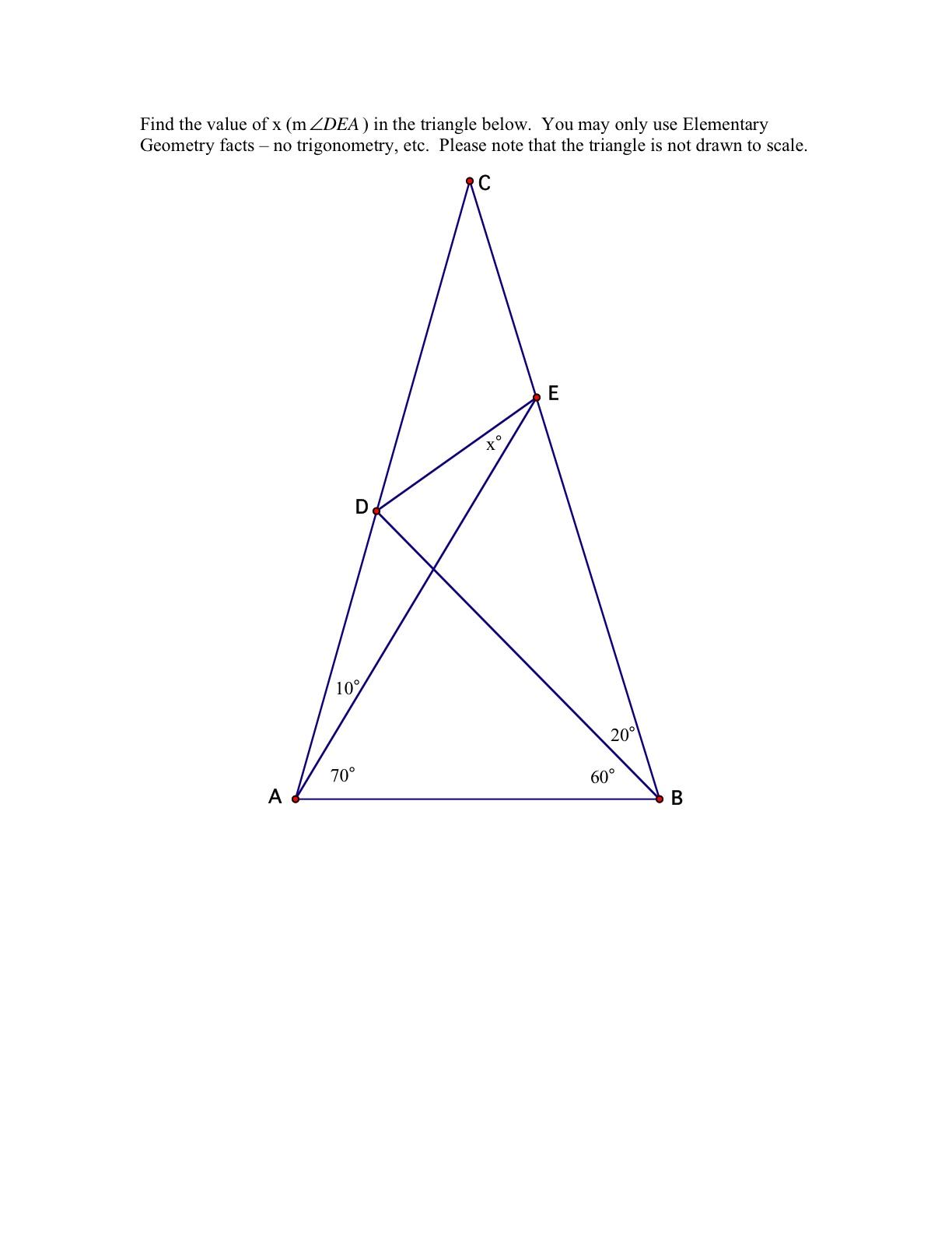 The World S Hardest Easy Geometry Problem