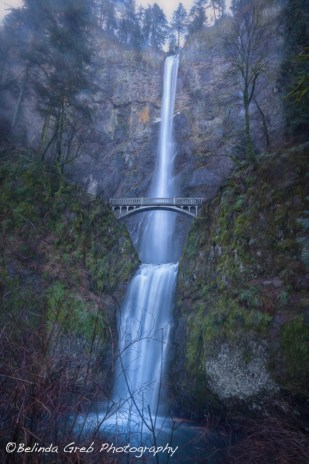 Multnomah Falls, painterly