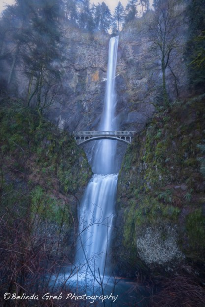 Multnomah Falls, painterly