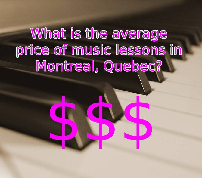 What is the average price of music lessons in Montreal, Quebec?