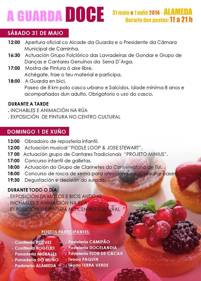 A GUARDA DOCE, muestra de pastelería y panadería, días 31 de Mayo y 1 de Junio