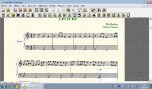 Editando partituras