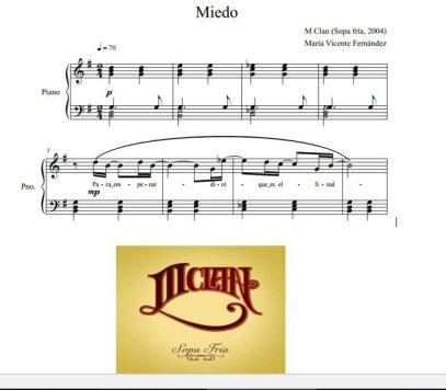 """""""Miedo"""" (M Clan): curiosidades, partitura e interpretación"""