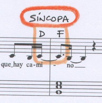 Síncopa La venda Musiqueando con María