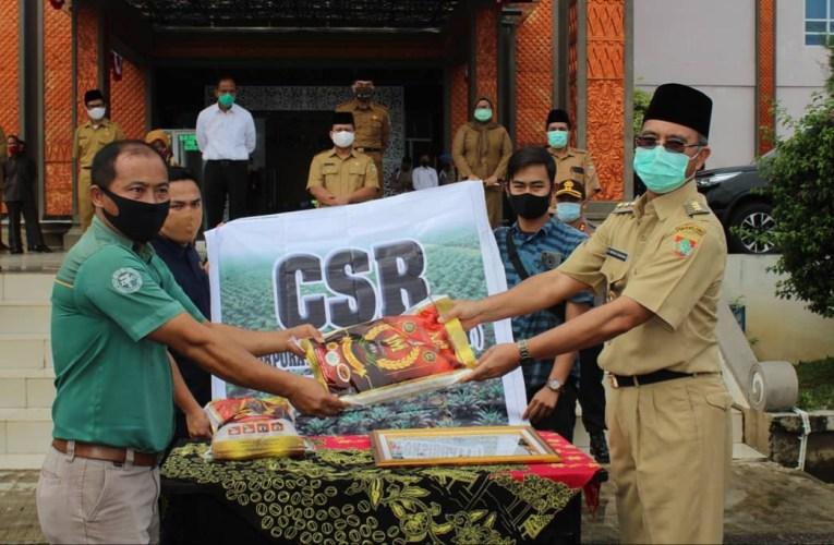 PT KIS Sumbang 850 Kg Beras kepada Pemkab Mura