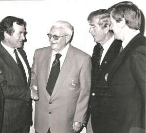 Mick-Power-former-south-of ireland champion presented with the blazer at lahinch in 1987