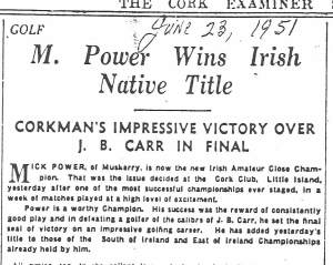 irish close final cork examiner report