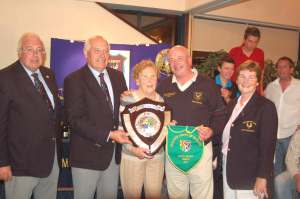 Nell Bruen with All Ireland James Bruen Shield