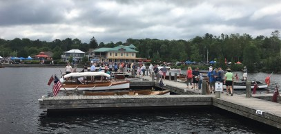 Muskoka Wharf was busy ...